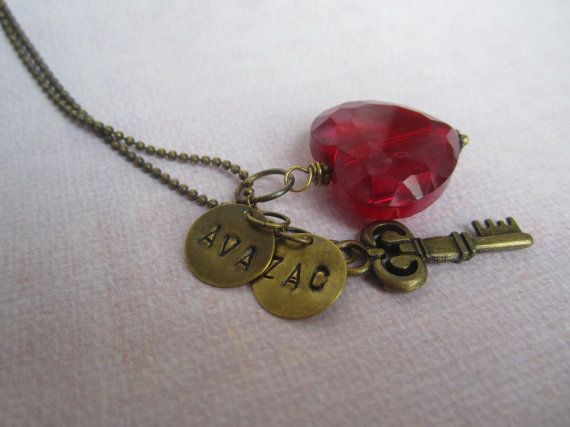Key to my heart! Personalized necklace $18