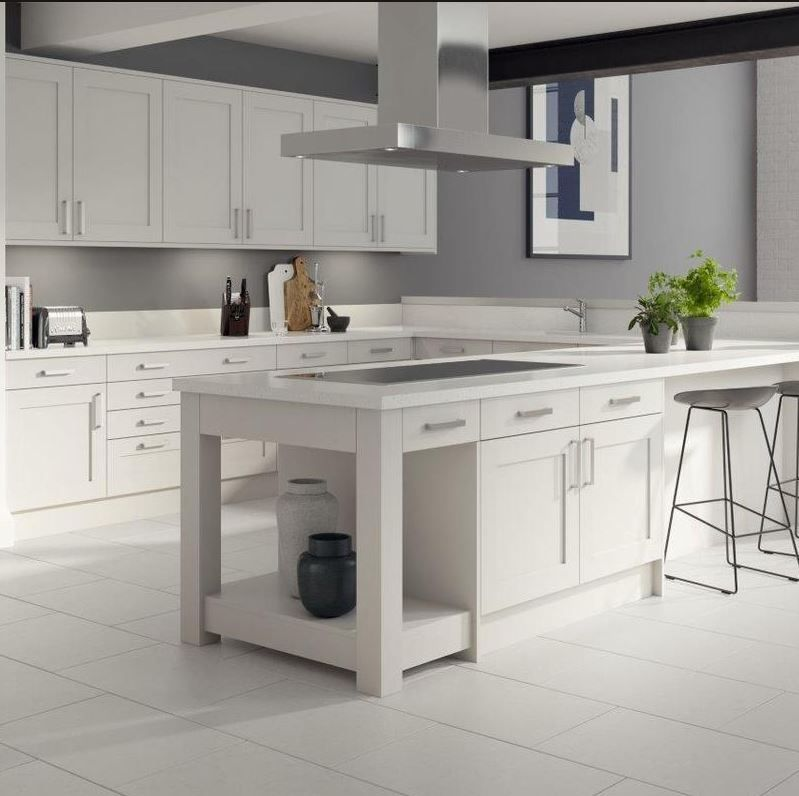 Light Grey Shaker Kitchen. | Grey shaker kitchen, Modern ...