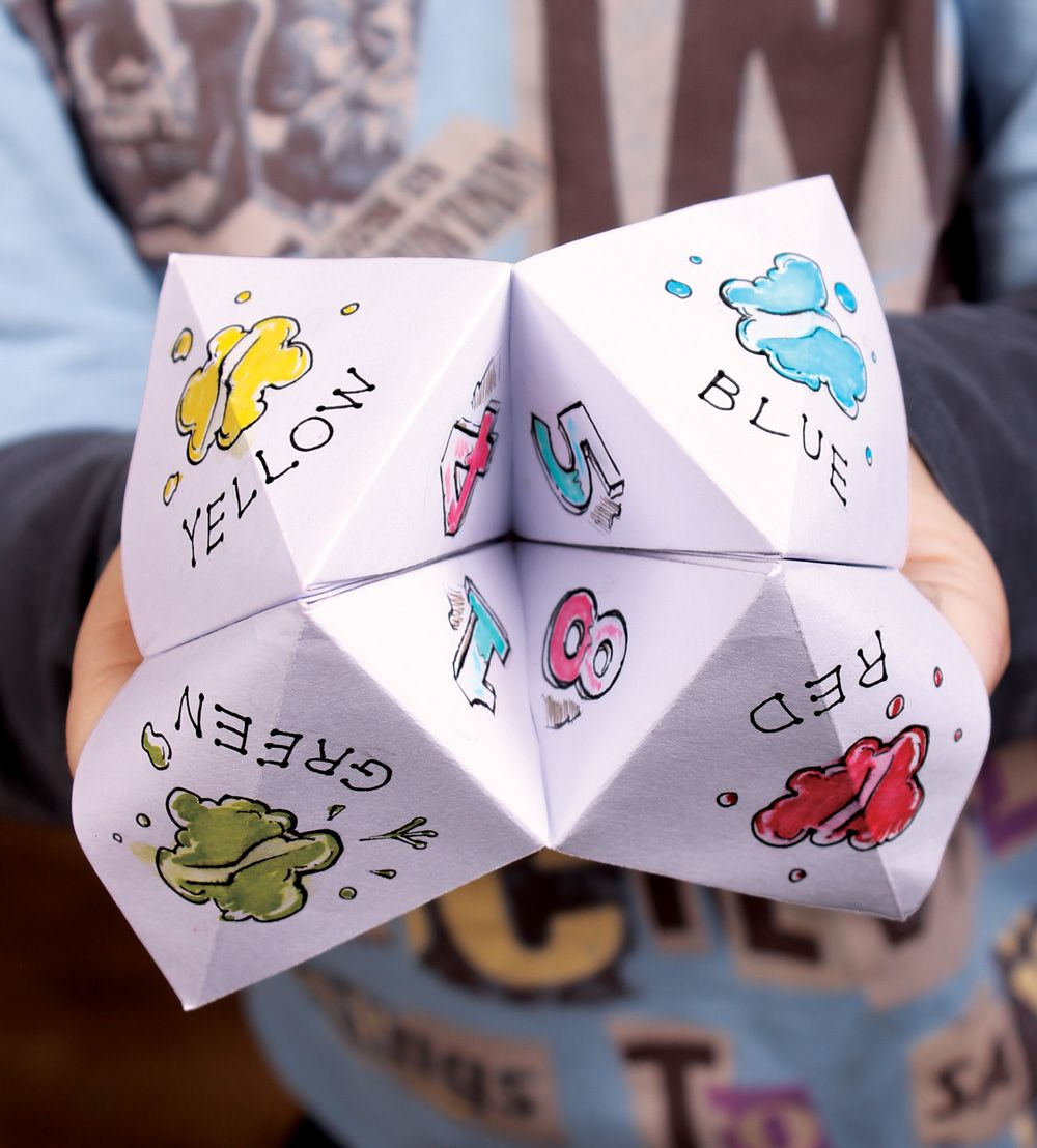 How To Paper Fortune Teller Printable With Funny Fortunes Fortune Teller Paper Funny Fortunes Fortune Teller