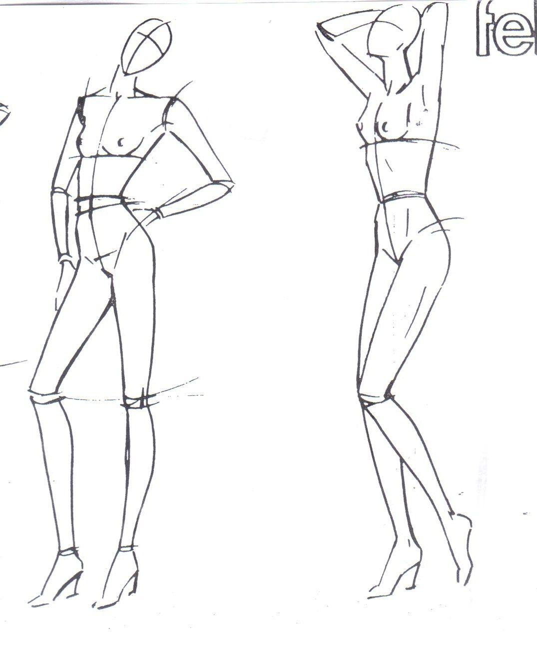 Figurines De Mujer Frente Y Espalda Buscar Con Google Dibujo