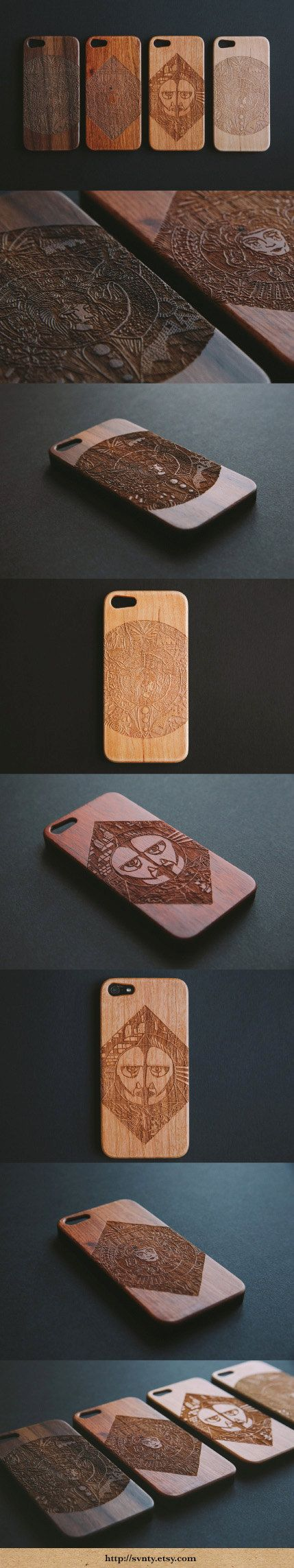 engraved them on wooden Iphone cases, - really loving how they turned out! Going for just $34 each :-) Engraved natural wood, wooden Iphone 5/5S cases by SVNTY on Etsy | Trend Pages |