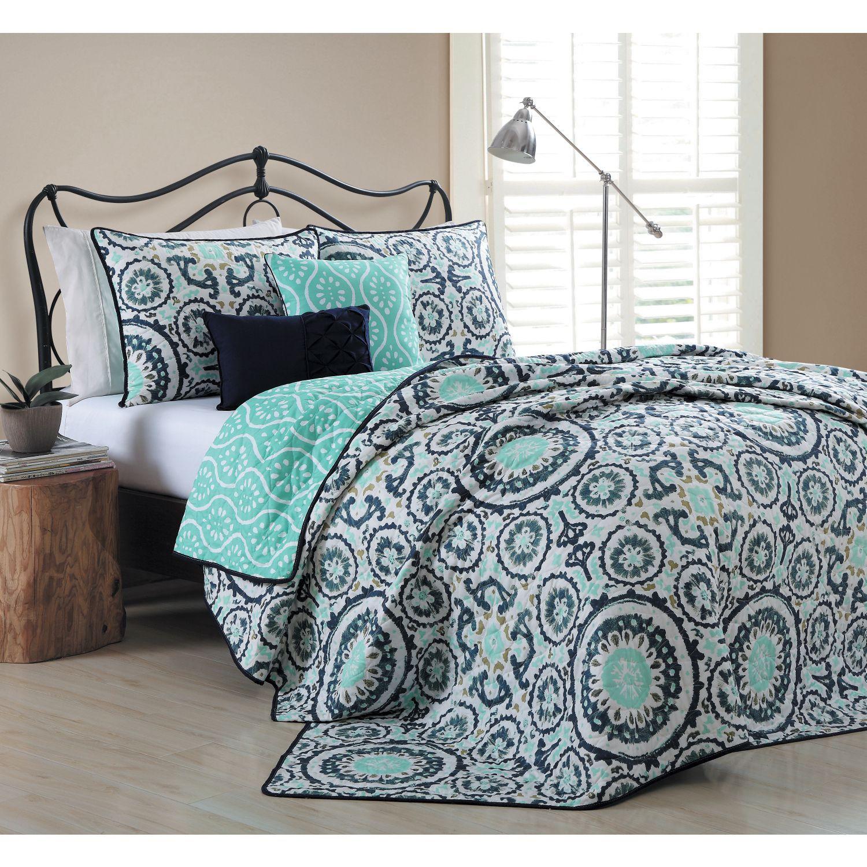 avondale manor leona 5piece quilt set by avondale manor queen beddingblue