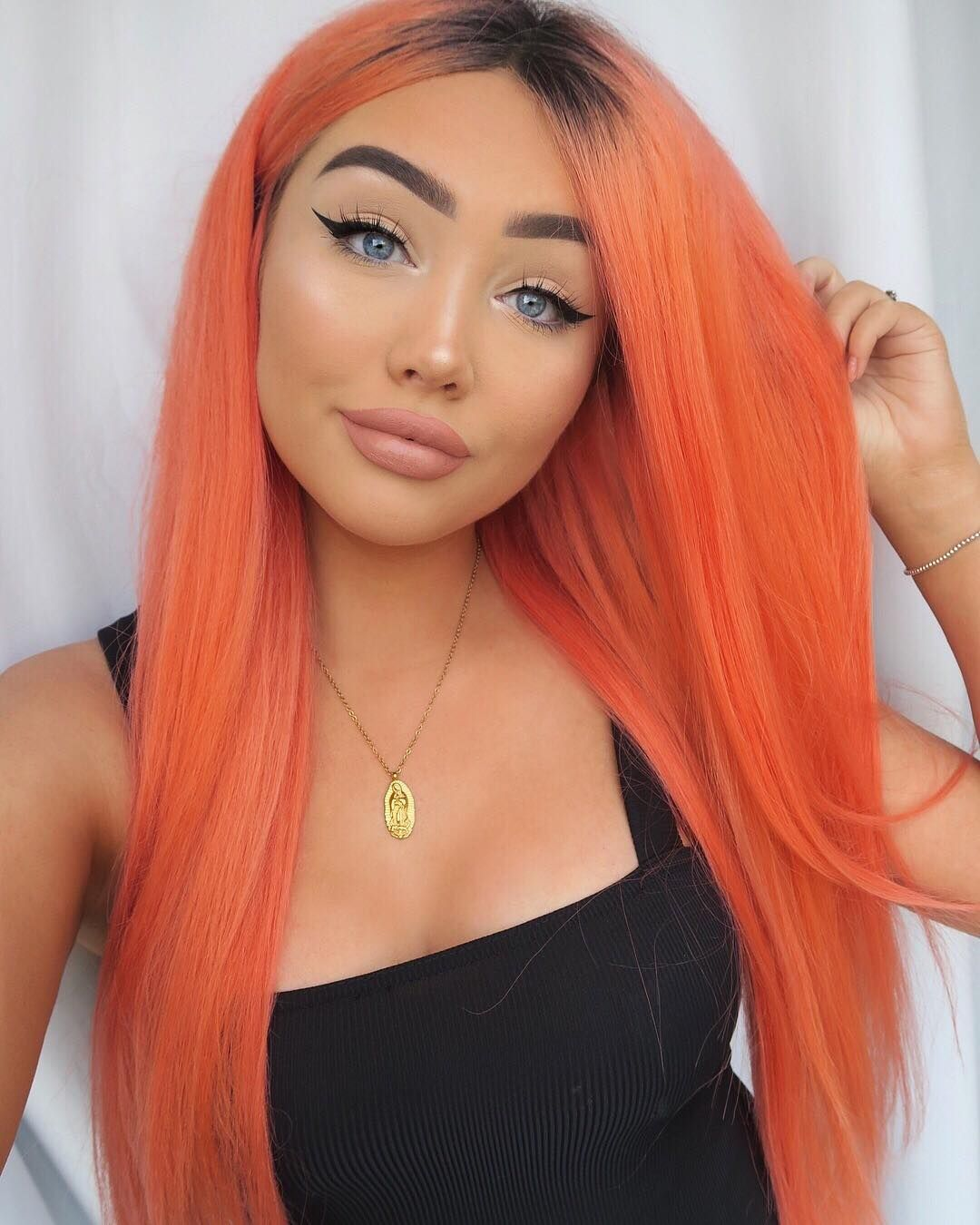"""Vegan + Cruelty-Free Color on Instagram: """"It doesn't get much more fall than orange hair! 🍁@ohmygeeee got the perfect shade of orange by diluting Sunset Orange! 🍊 ⠀⠀⠀⠀⠀⠀⠀⠀⠀…"""""""