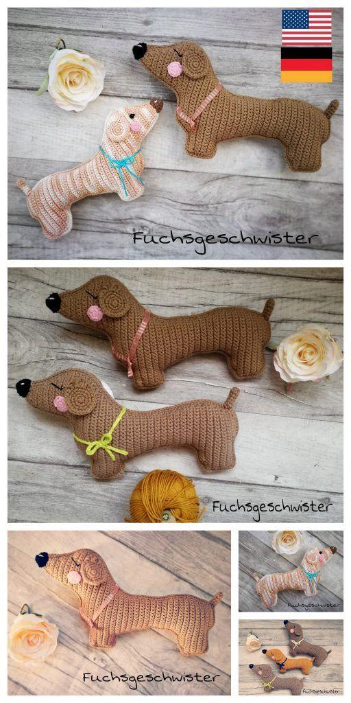 Amigurumi sweet dog pattern | Amiguroom Toys | 1024x512