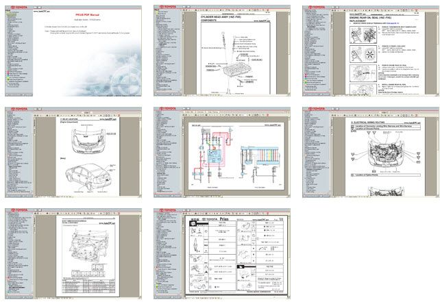 toyota prius 2003 2004 2005 service manual and electrical wiring rh pinterest com 2007 Toyota Prius 2007 Toyota Prius