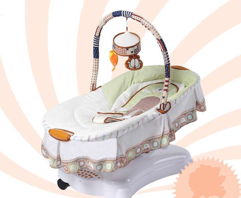 Schommelstoel Elektrisch Baby.Hoge Kwaliteit Babybed Bed Pasgeboren Baby Schommelstoel Wieg