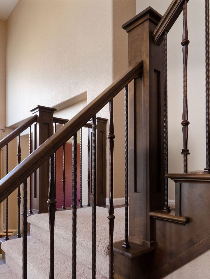 Foyer Staircase Kit : Early s colonial wrought iron staircase balusters