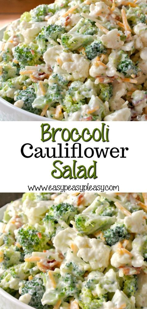 Photo of Deliciously Sweet Broccoli Cauliflower Salad – Easy Peasy Pleasy