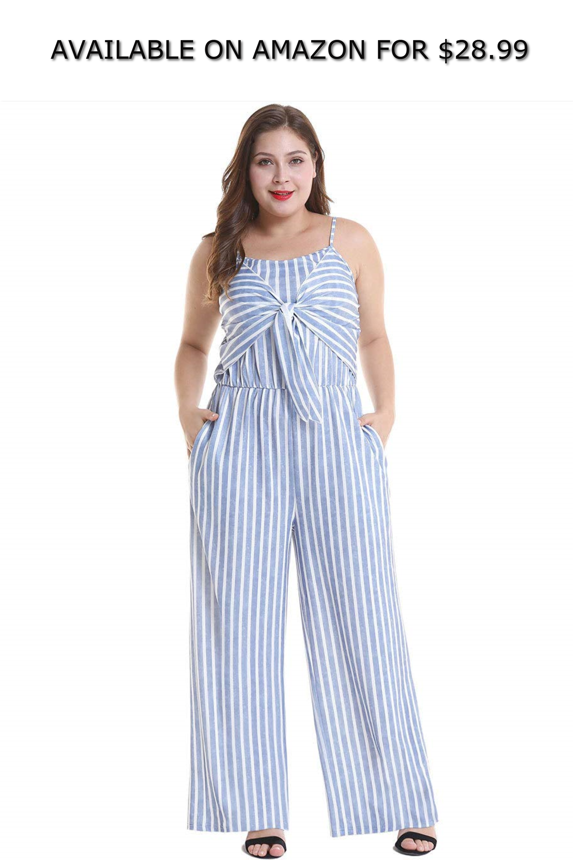 Cnxyf Womens Slim Sling Striped Jumpsuit Plus Size Available On