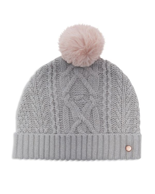 60f130cac71 Ted Baker Kyliee Cable Knit Pom-Pom Beanie
