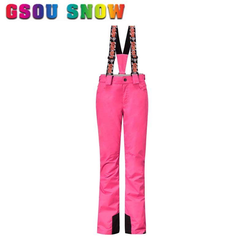 Gsou Snow Brand Ski Pants Women Waterproof Snowboard Pants Winter Ski  Trousers Breathable Outdoor Skiing Snow ce4aecbd3