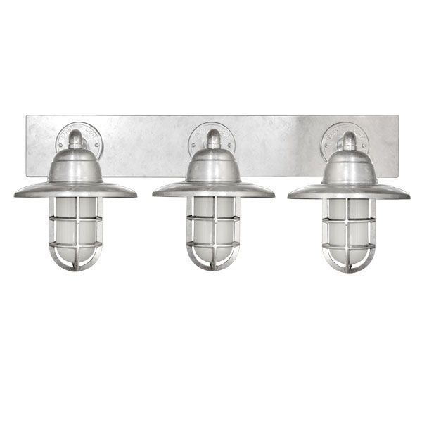 Image Gallery For Website Atomic Industrial Guard Triple Vanity Light Barn Light Electric