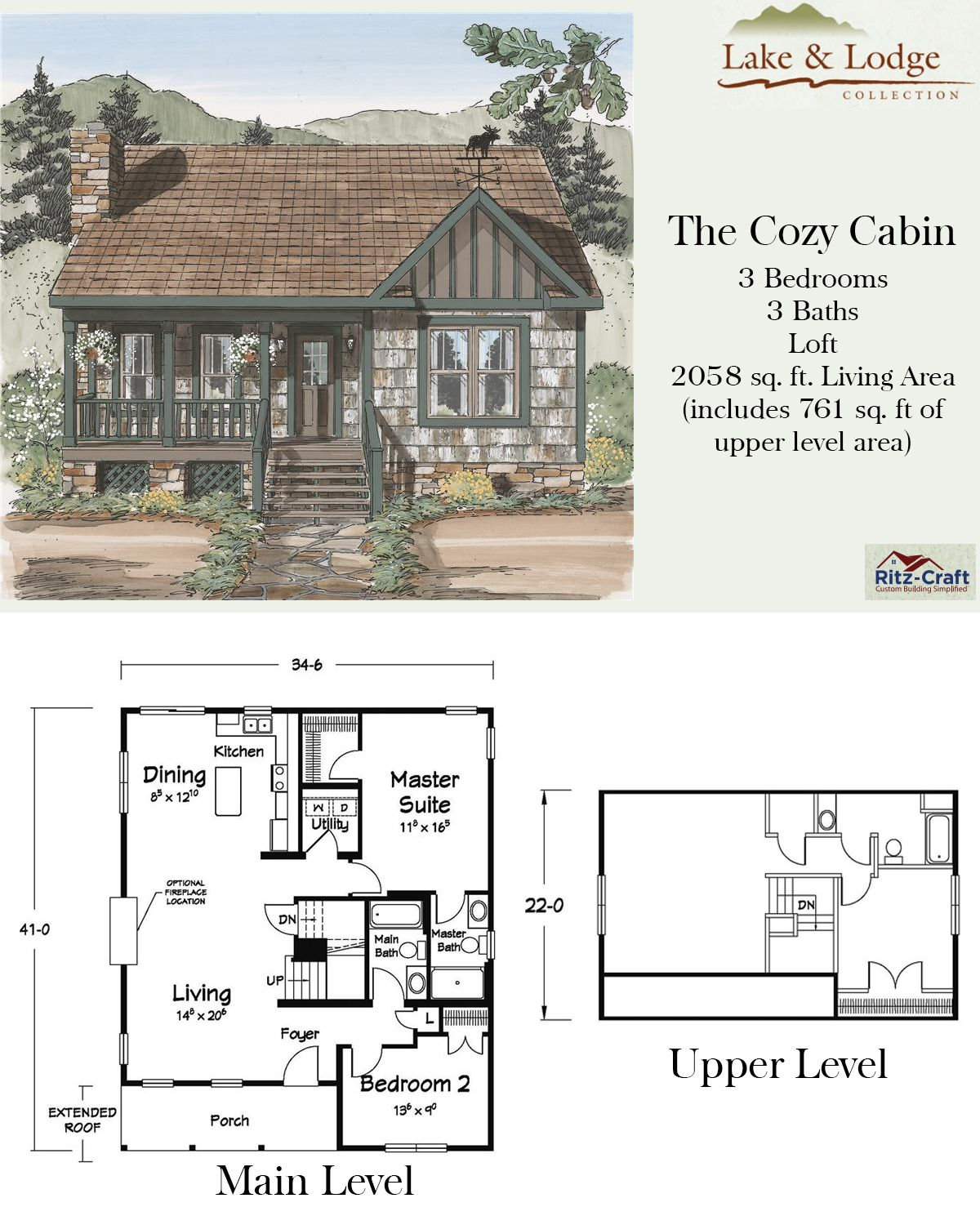 Cozy Cabin Floor Plans Modular Home Manufacturers Modular Homes