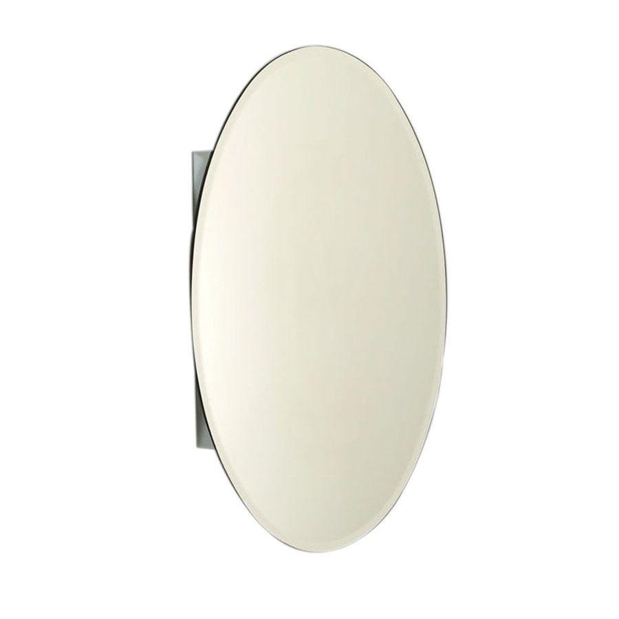 Zenith Designer 20 In X 30 In Oval Surface Recessed Mirrored Aluminum Medicine Cabinet Lowes Com Recessed Medicine Cabinet Medicine Cabinet Medicine Cabinet Mirror