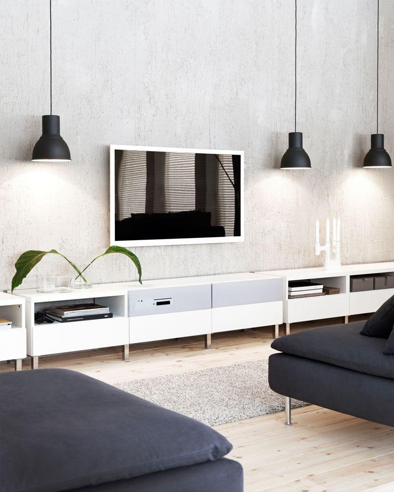 ikea besta ikea pinterest salon bleu d co maison et deco industrielle. Black Bedroom Furniture Sets. Home Design Ideas