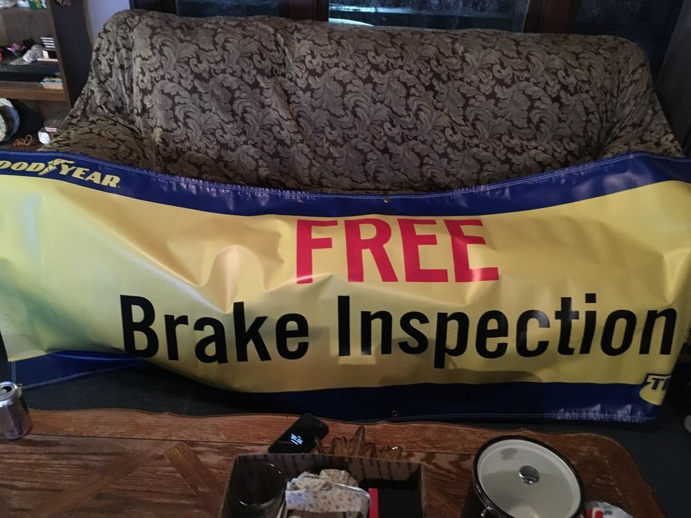 Goodyear Man Cave Garge Original Building Advertising Giant Vinyl Banner 10 Ft Goodyear Vinyl Banners Goodyear 10 Things