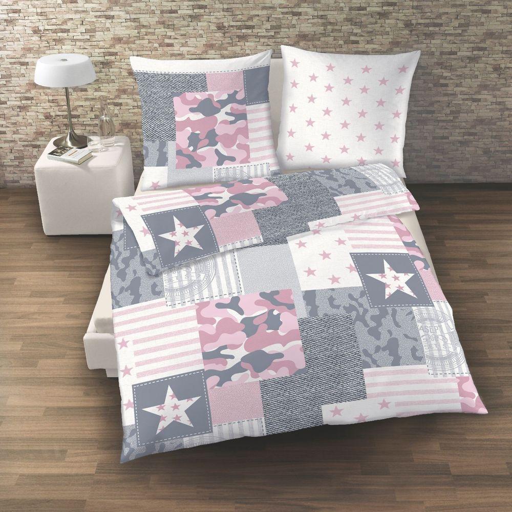 Camouflage Camo Bettwasche Sterne Stars Rosa Grau 2 Tlg 135x200 Neu Rosa Grau Bettwasche Bett
