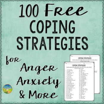 FREE Help kids and young adults with anxiety, depression, anger, dealing with stress, and more. This resource includes a 2-page printable list of coping strategies. Counselors, social workers, psychologists, special education teachers, and regular education teachers can keep the list posted for students who need extra support in using coping strategies for strong emotions.