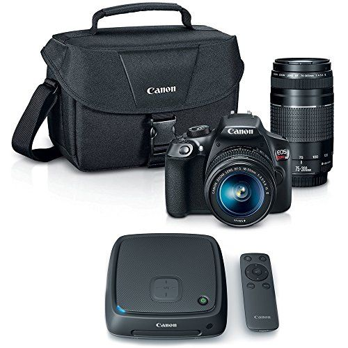 Canon EOS Rebel T6 SLR Camera w 1855mm and 75300mm Lens Kit  CS100 1TB Connect Station Storage Hub Bundle *** Check out this great product.Note:It is affiliate link to Amazon.