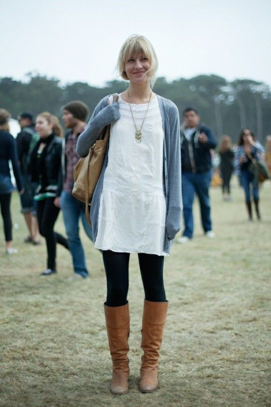 Layer Cardigans Over Dresses for Fall | Layering, Long silver ...