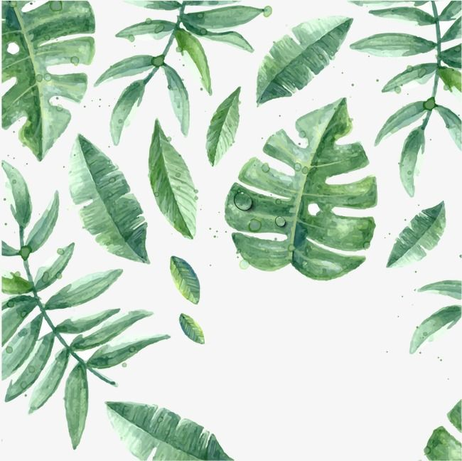 Watercolor Leaves Leaves Patten Png Images Vector Leaf Print Art