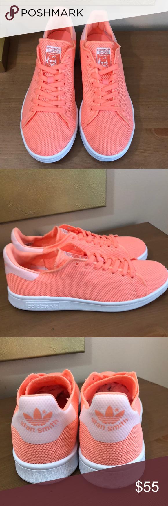 Adidas 'Stan Smith' Neon Orange Sneaker