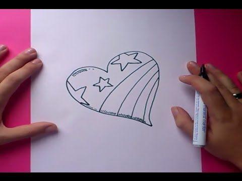 Como Dibujar Un Corazon Paso A Paso 3 How To Draw A Heart 3 Como Dibujar Rosas Dibujos Para Ninos Como Dibujar