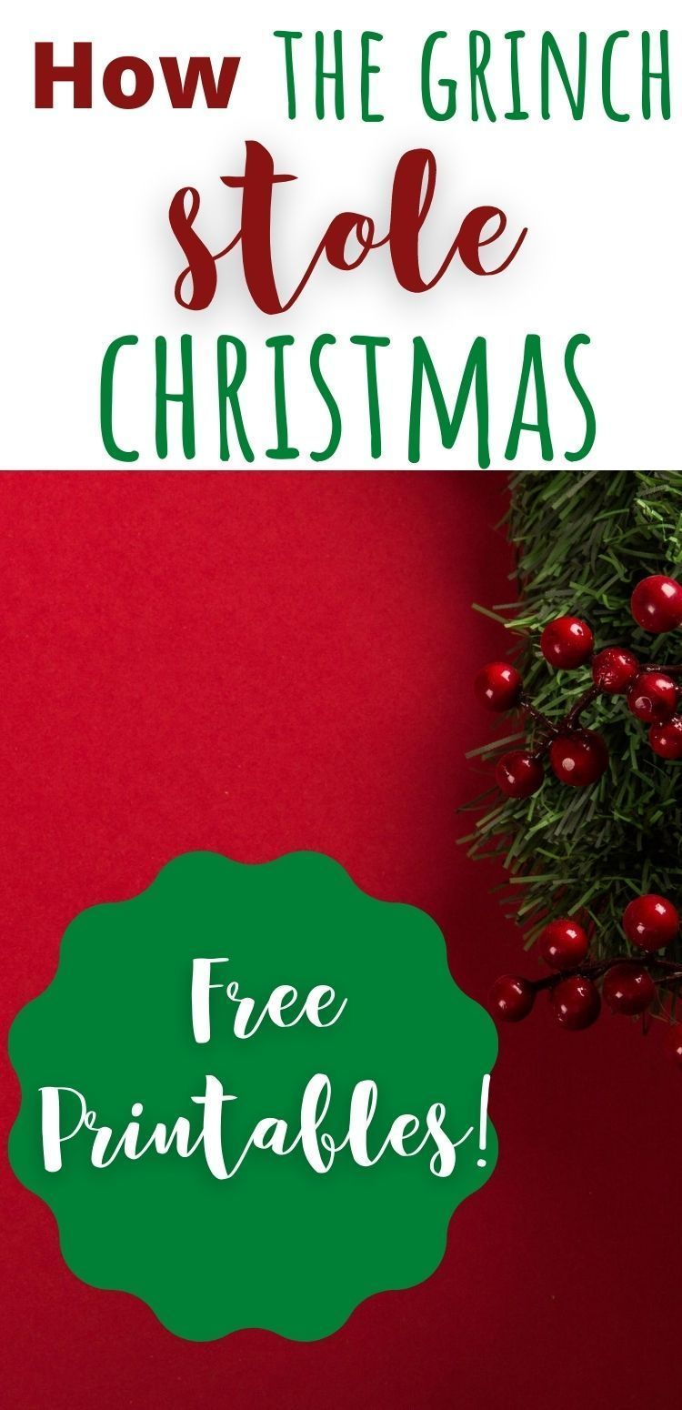 How The Grinch Stole Christmas 2020 Online Free How the Grinch Stole Christmas Free Printables! in 2020   Free