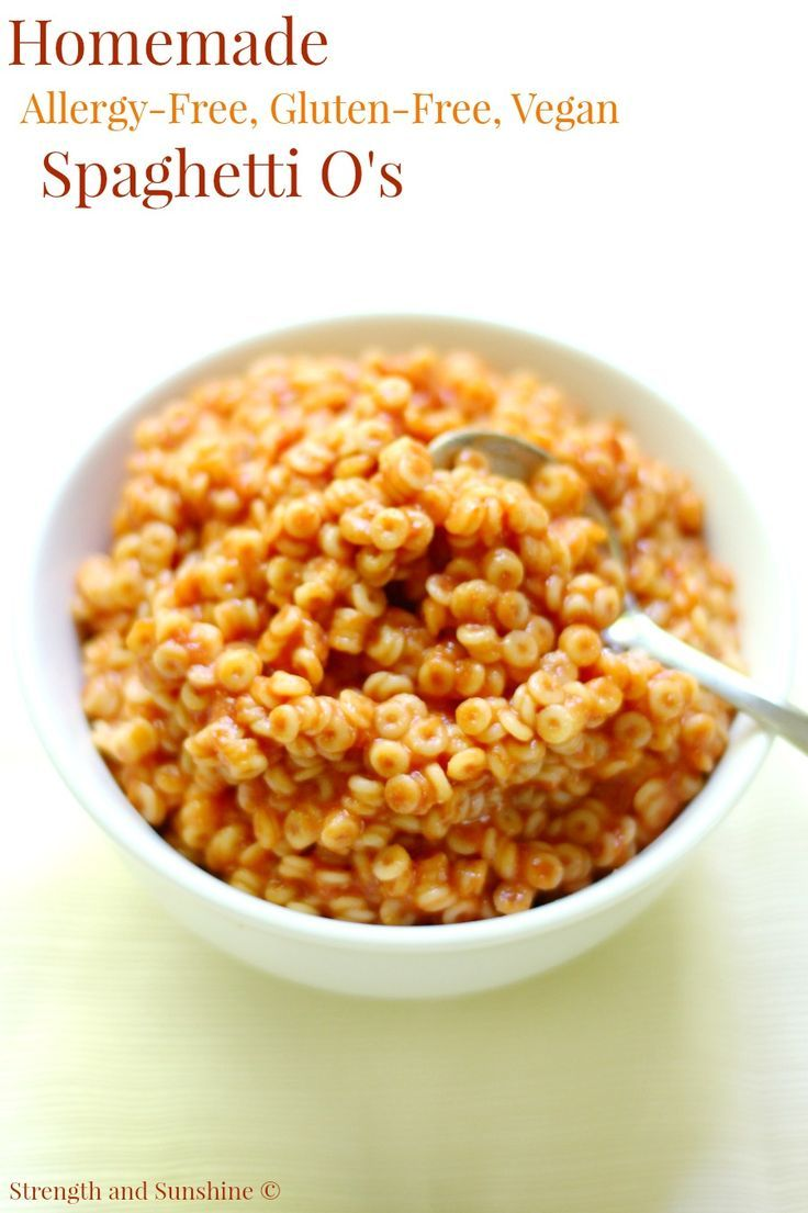 Homemade Spaghetti O's (Allergy-Free, Gluten-Free, Vegan ...