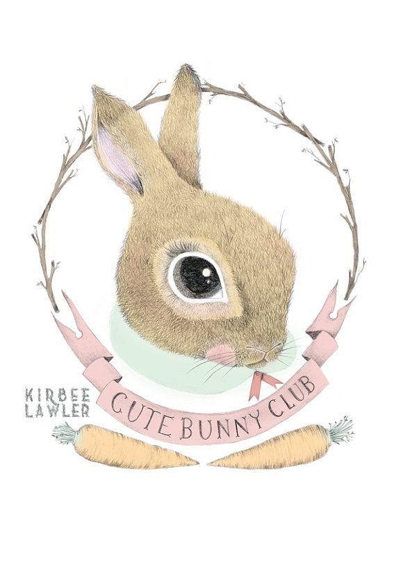 Bunny Club Cute Animal Drawings Cute Illustration Illustration