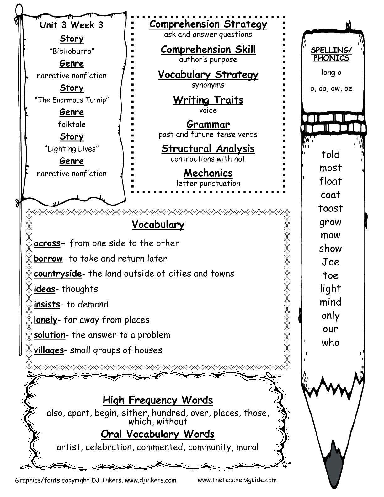 Reading Wonders Phonics Spelling Reproducibles Grade