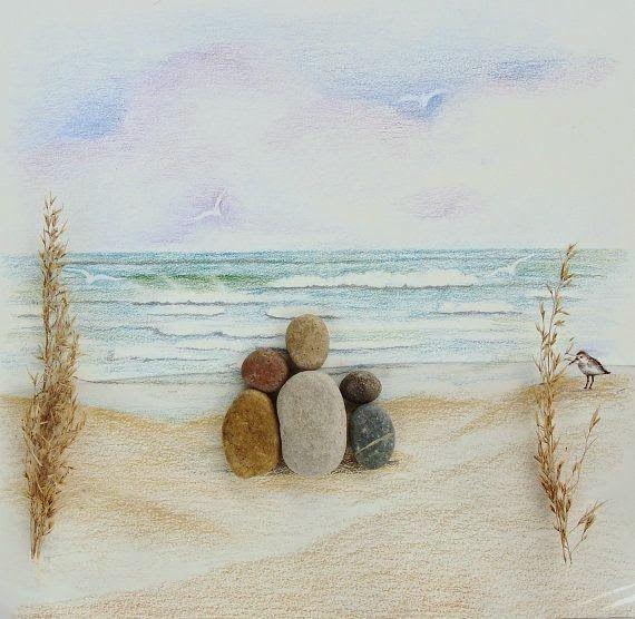 Kiesel auf Leinwand ... 50 wundervolle Gemälde von ... - Mach es Selbst - Ideen Blog #steinebemalenanleitung