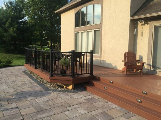This Outdoor Living Combination In New Albany Oh Gives New Meaning To Backyard Bliss Platform Deck Patio Backyard