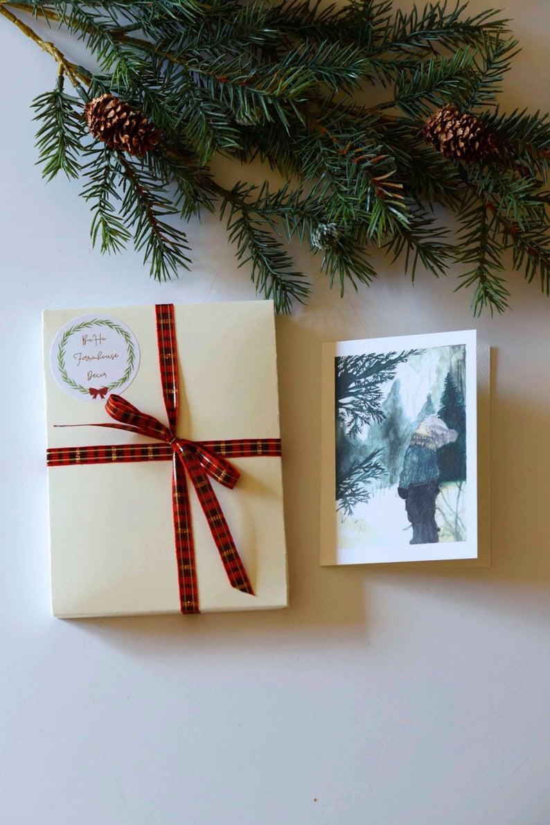 Christmas card box set 12 card box set Woodland card