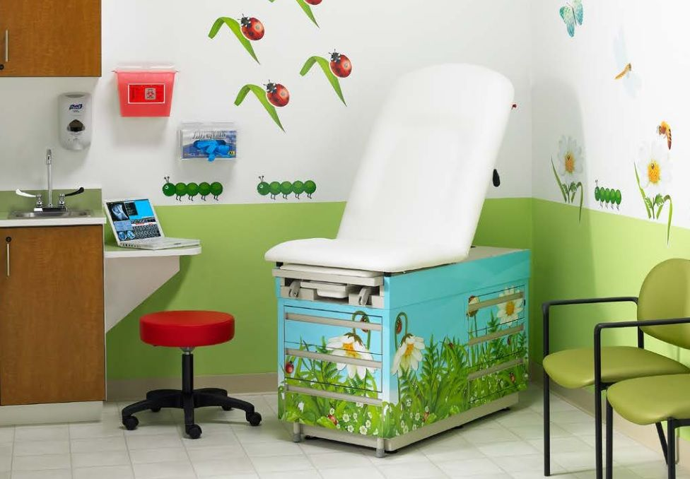 Pediatric Office Decor intensa | ladybug exam room | pediatric office design ideas