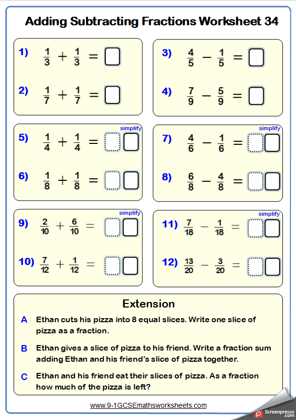 Fractions Worksheets Outstanding Maths Worksheets Fractions Worksheets Math Fractions Worksheets Fractions