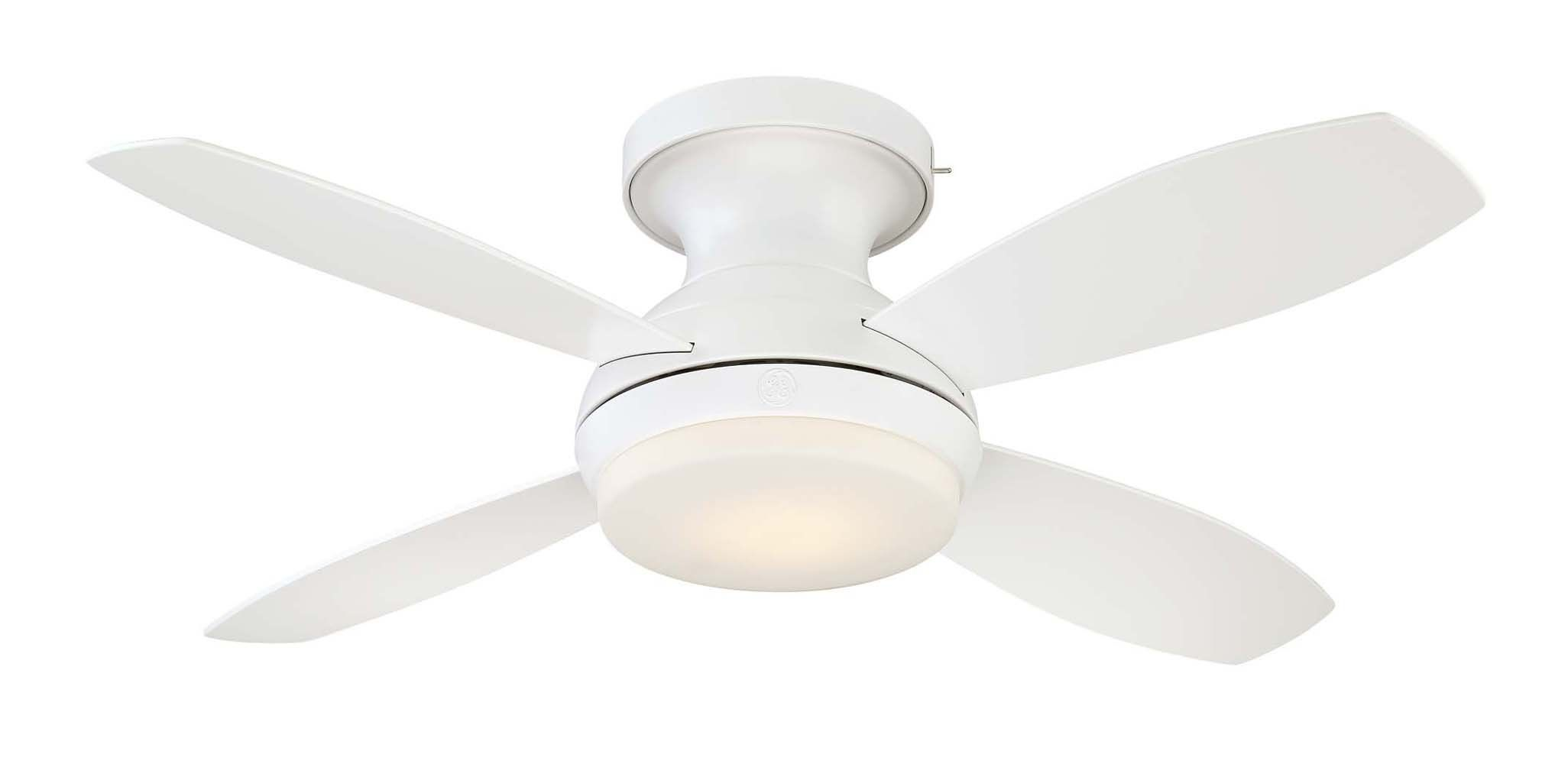 Ge Kinsey 44 White Led Indoor Ceiling Fan With Skyplug Technology For Instant Plug And Play Mounting See T In 2020 Ceiling Fan Modern Ceiling Fan Fan Installation