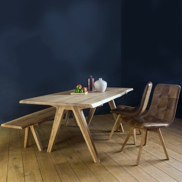 Allegro Solid Oak Dining Table And Bench