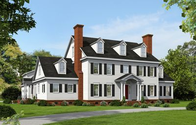 Plan 68413vr Spacious Colonial With Man Cave Colonial House Plans Colonial Style Homes Colonial House