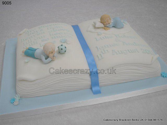 Christening Cake Book Design : Christening Cake Luke James http://www.cakescrazy.co.uk ...