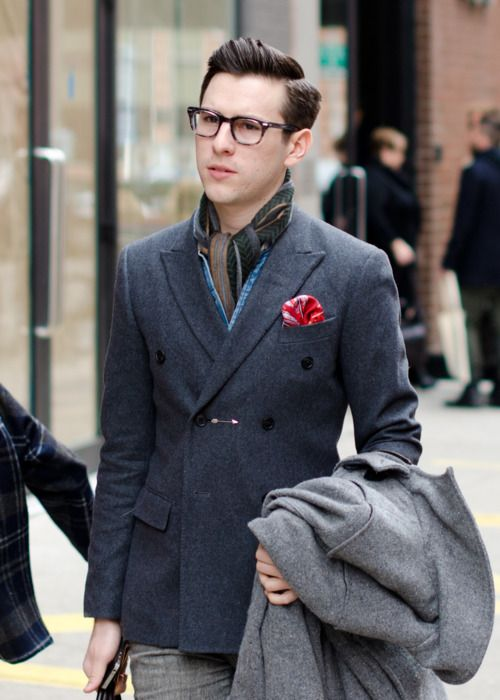 23e63bc6b15d Men s Fashion in Jacket 2014. Win for double-breasted jacket   scarf work