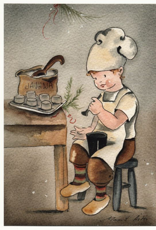 Maarit Ailio - Een bakker op het werk. - Huuto.net