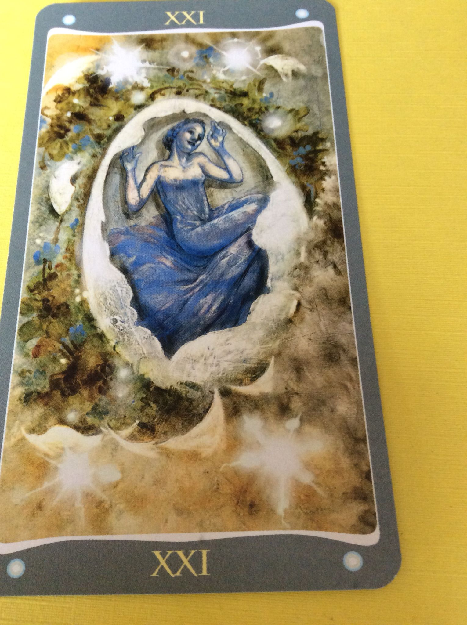 Rebirth Divination Card: The World From The Fairy Lights Tarot Deck By Lucia
