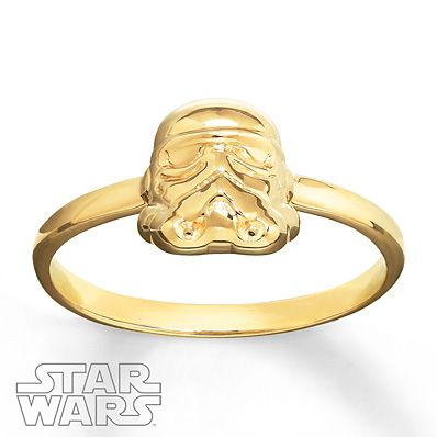 Star Wars Ring C-3P0 10K Yellow Gold GvEtFvsIpi