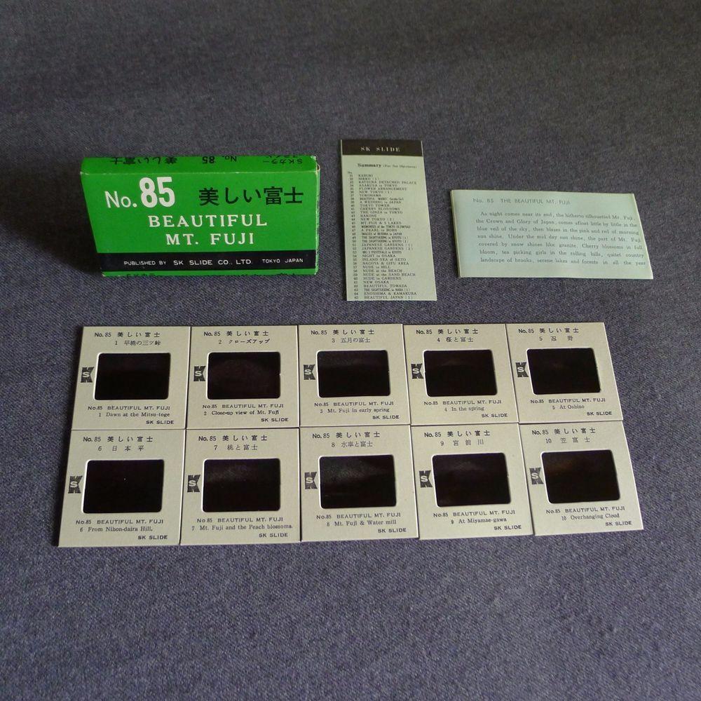 Beautiful Mt. Fuji SK Photo Slide Set of 10 Japan 1970s Boxed Number 85 | eBay