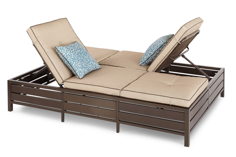 Lit De Repos Double De Hometrends Beige Beige Bed Outdoor Sofa Lounger