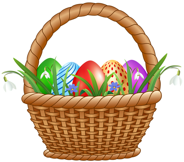 Easter Basket with Eggs Transparent Image in 2020   Easter ...