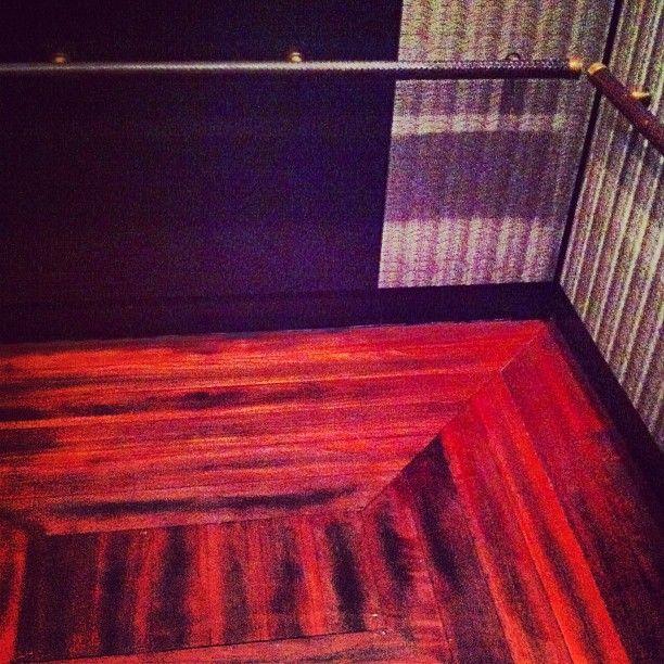 Just polished... elevator wood floor