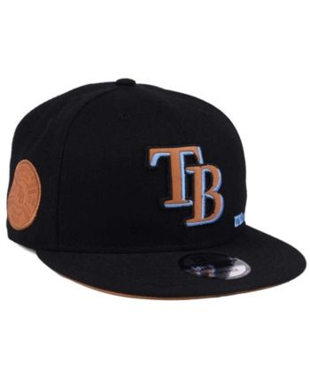 buy online 99357 bd293 New Era Tampa Bay Rays X Wilson Side Hit 9FIFTY Snapback Cap - Black Brown  Adjustable