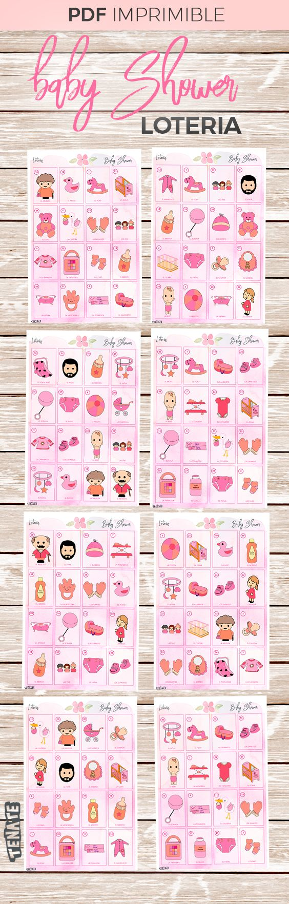 Loteria Para Baby Shower Nina Baby Shower Pinterest Baby